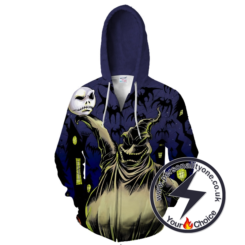 Halloween Town Oogie Boogie Performance Zip Up Hoodie
