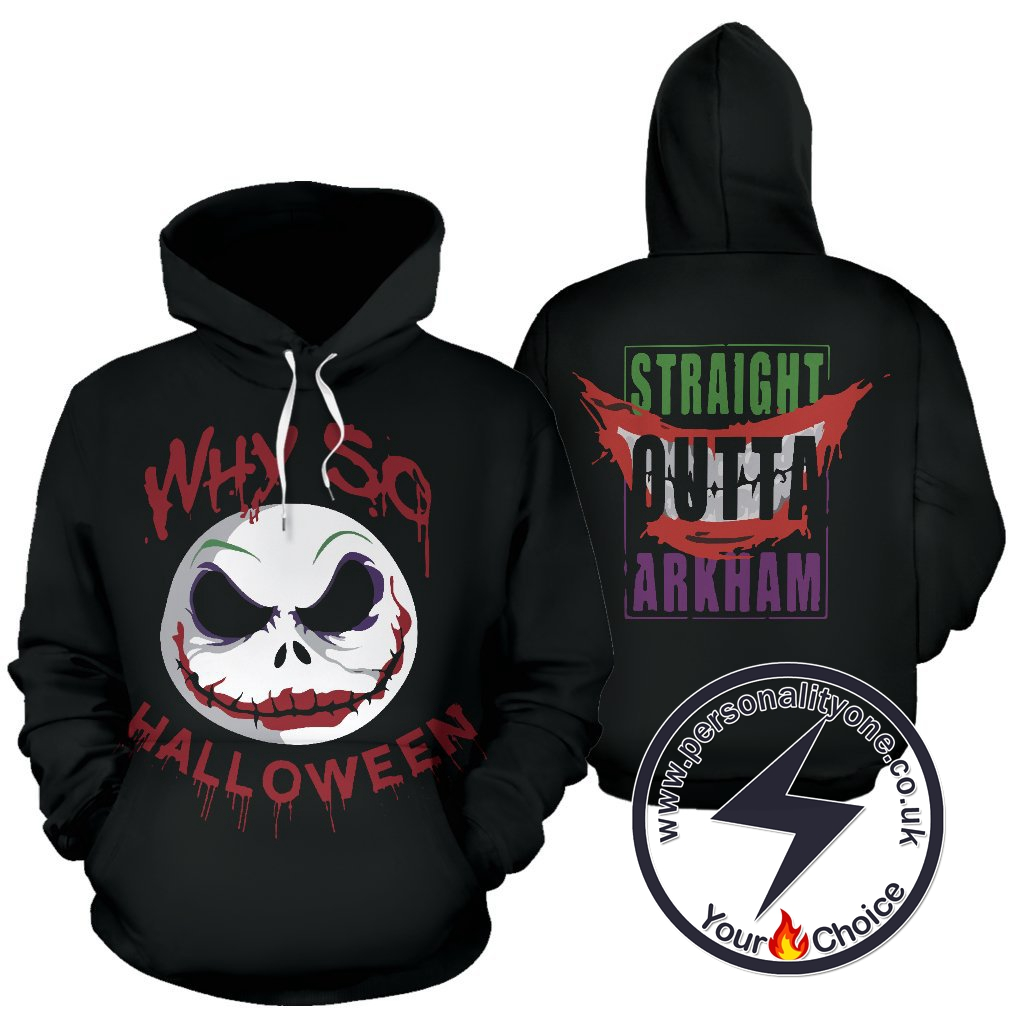 The Nightmare Before Christmas Evil Looking Jack Skellington Hoodie