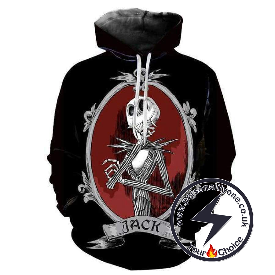 The Nightmare Before Christmas Halloween Spooky Jack Skellington Hoodie