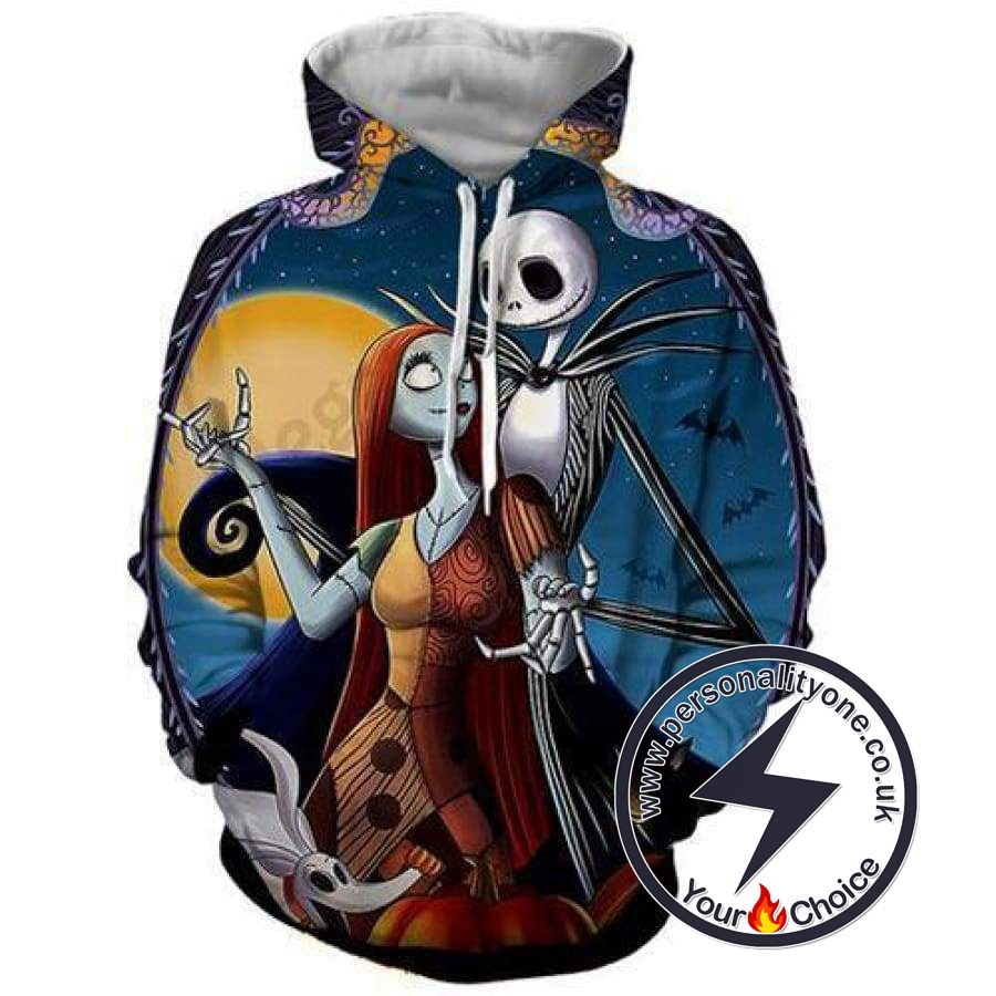 The Nightmare Before Christmas Jack And Sally Dancing Hoodie
