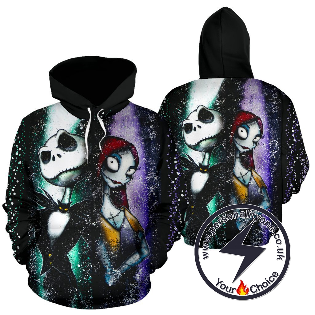 The Nightmare Before Christmas Jack And Sally Romantic night Hoodie
