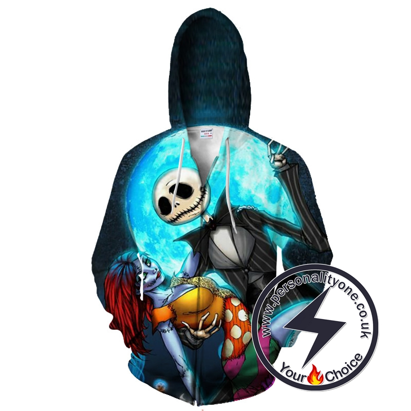 The Nightmare Before Christmas Jack And Sally Zip Up Hoodie