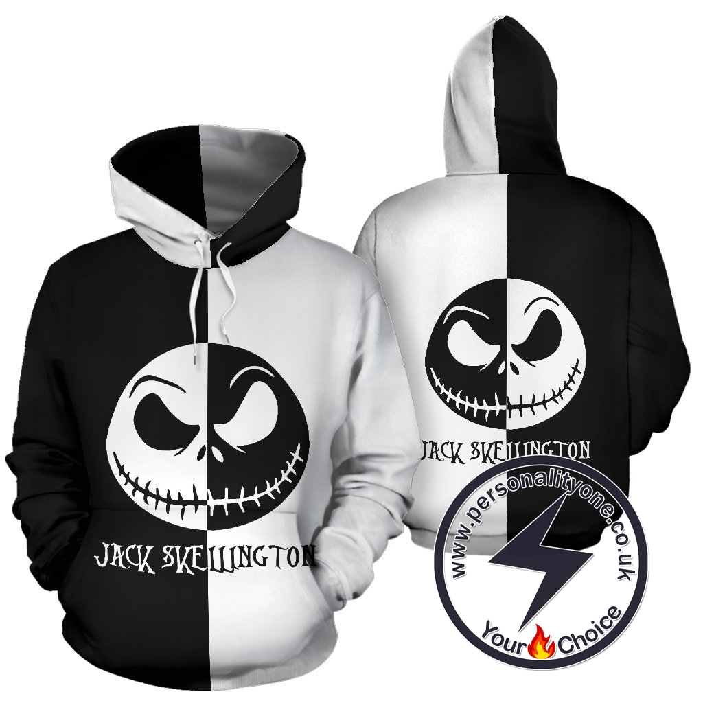 The Nightmare Before Christmas Jack Skellington 3D Logo Hoodie