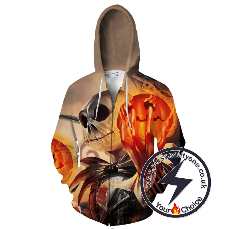 The Nightmare Before Christmas Jack Skellington And The Pumpkin King Zip Up Hoodie