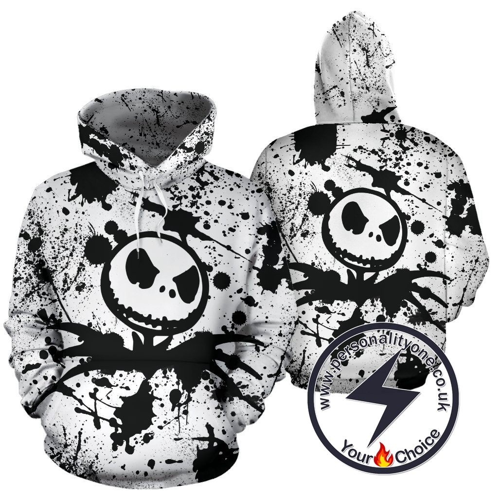 The Nightmare Before Christmas Jack Skellington Ink Logo Hoodie