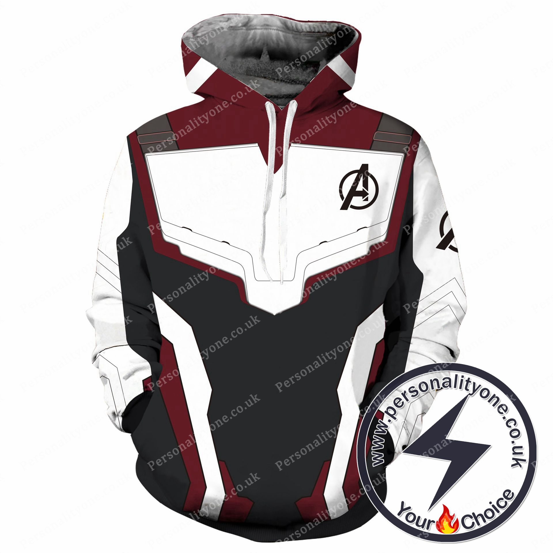 The Avengers 4 Avengers: Endgame the Advanced Tech Suits White Suit Cosplay Hoodie