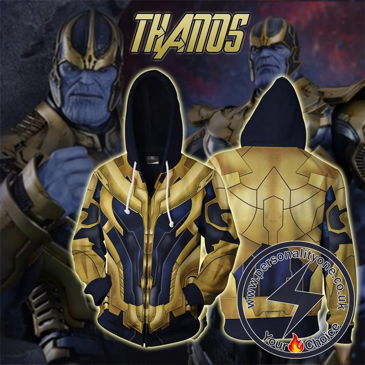 The Avengers 4 Avengers: Endgame Thanos Cosplay Zip Up Hoodie Jacket