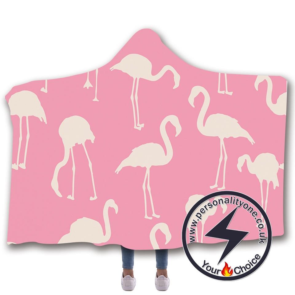 3D Flamingo Hooded Blanket #10001
