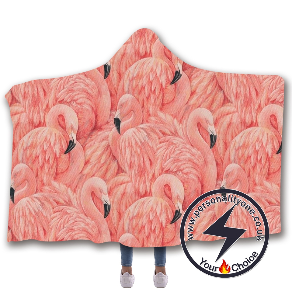 3D Flamingo Hooded Blanket #10003