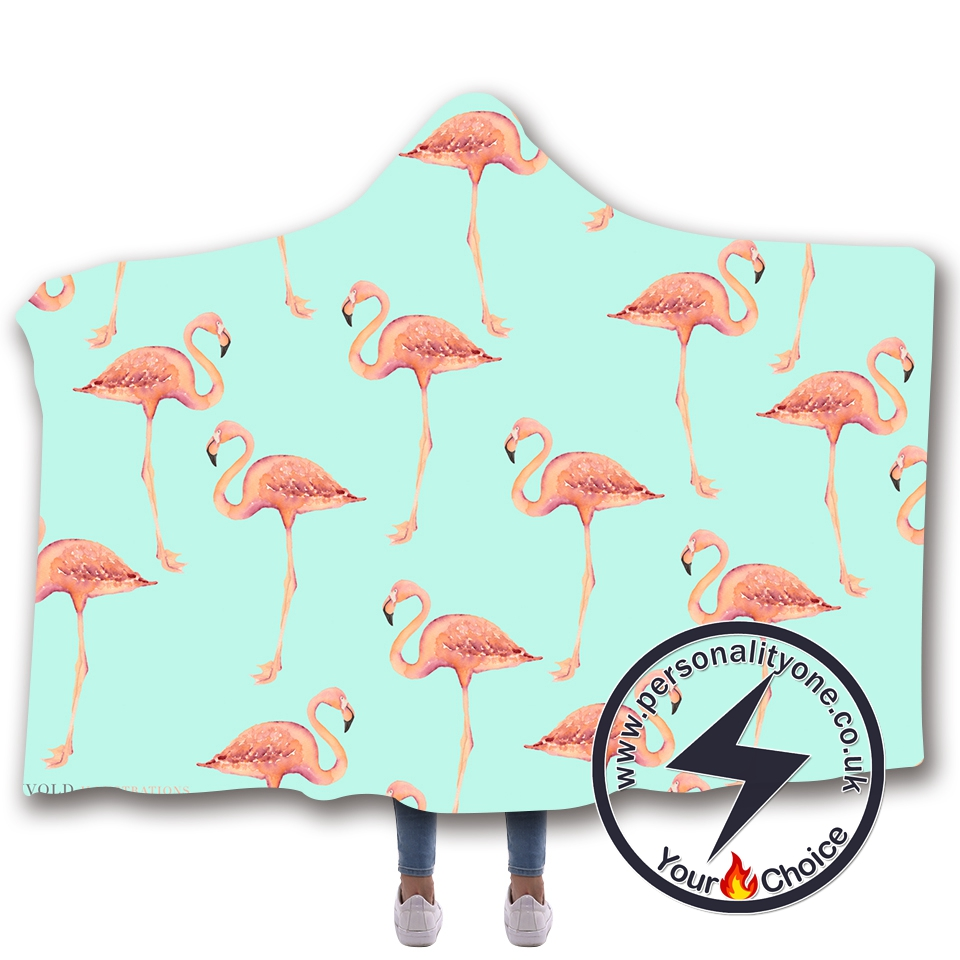 3D Flamingo Hooded Blanket #10005