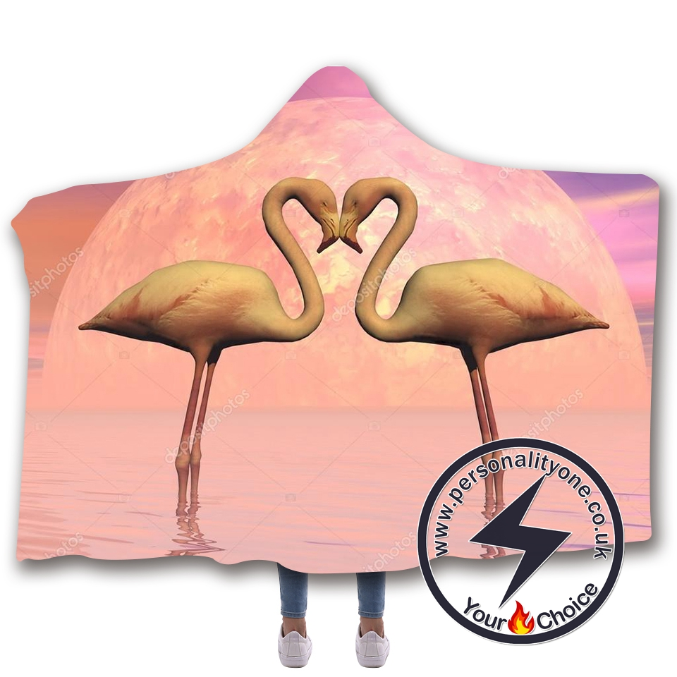 3D Flamingo Hooded Blanket #10006