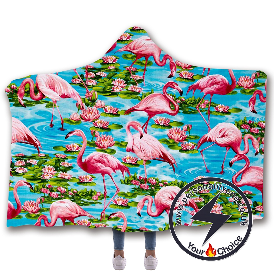 3D Flamingo Hooded Blanket #10010