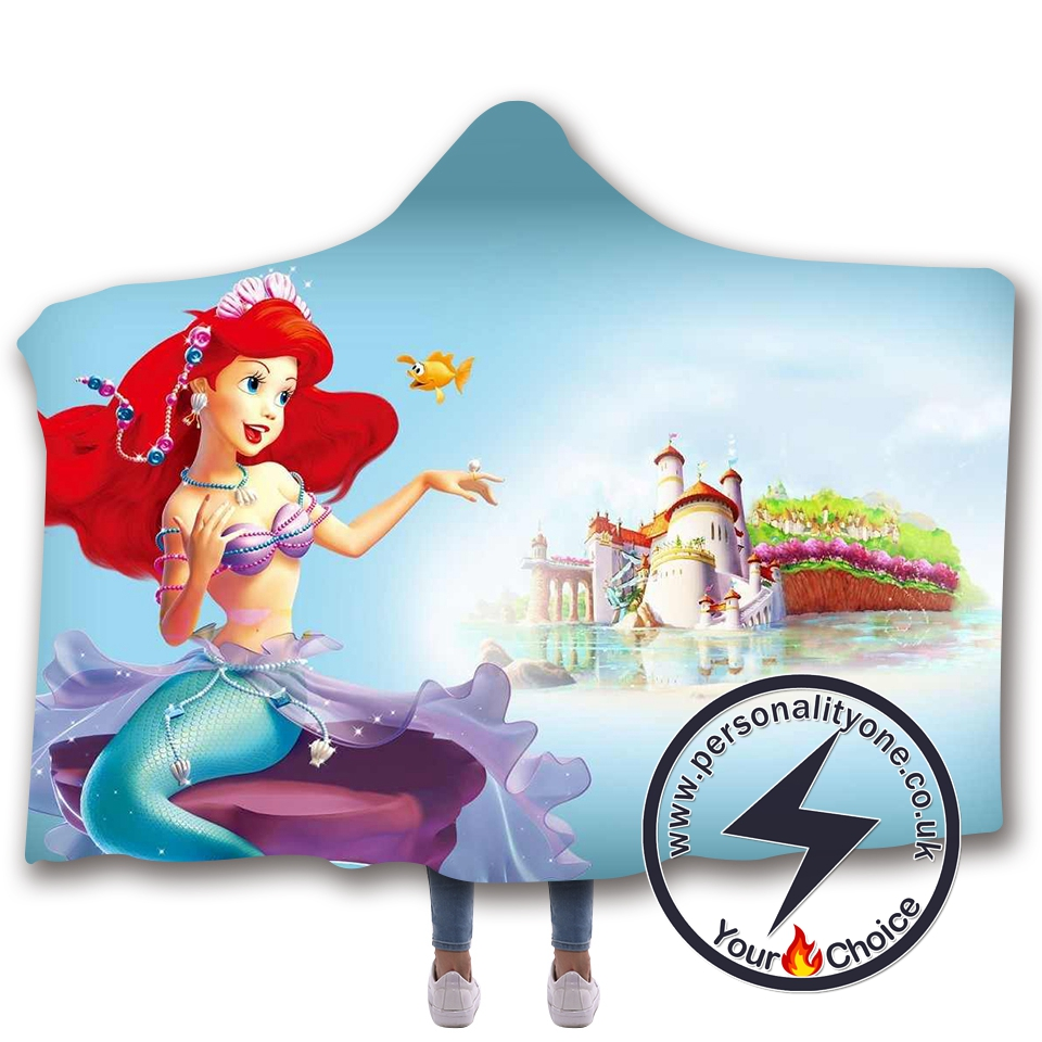 3D Mermaid Hooded Blanket #10013
