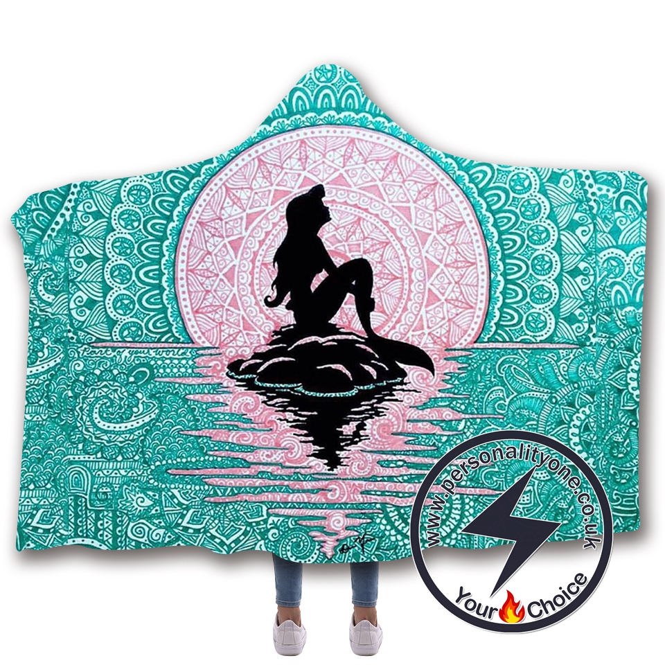 3D Mermaid Hooded Blanket #10015