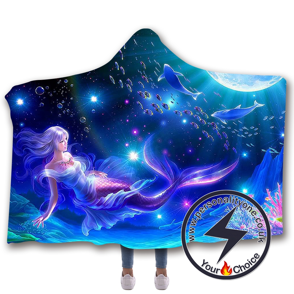 3D Mermaid Hooded Blanket #10017