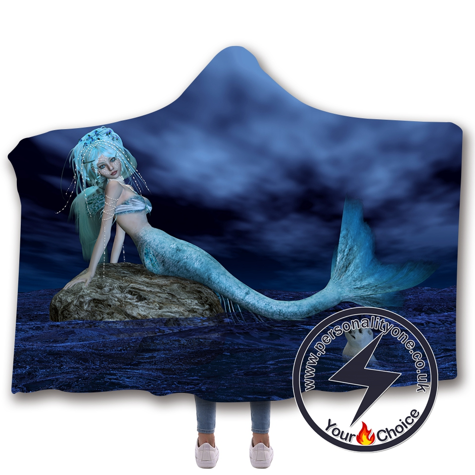 3D Mermaid Hooded Blanket #10024