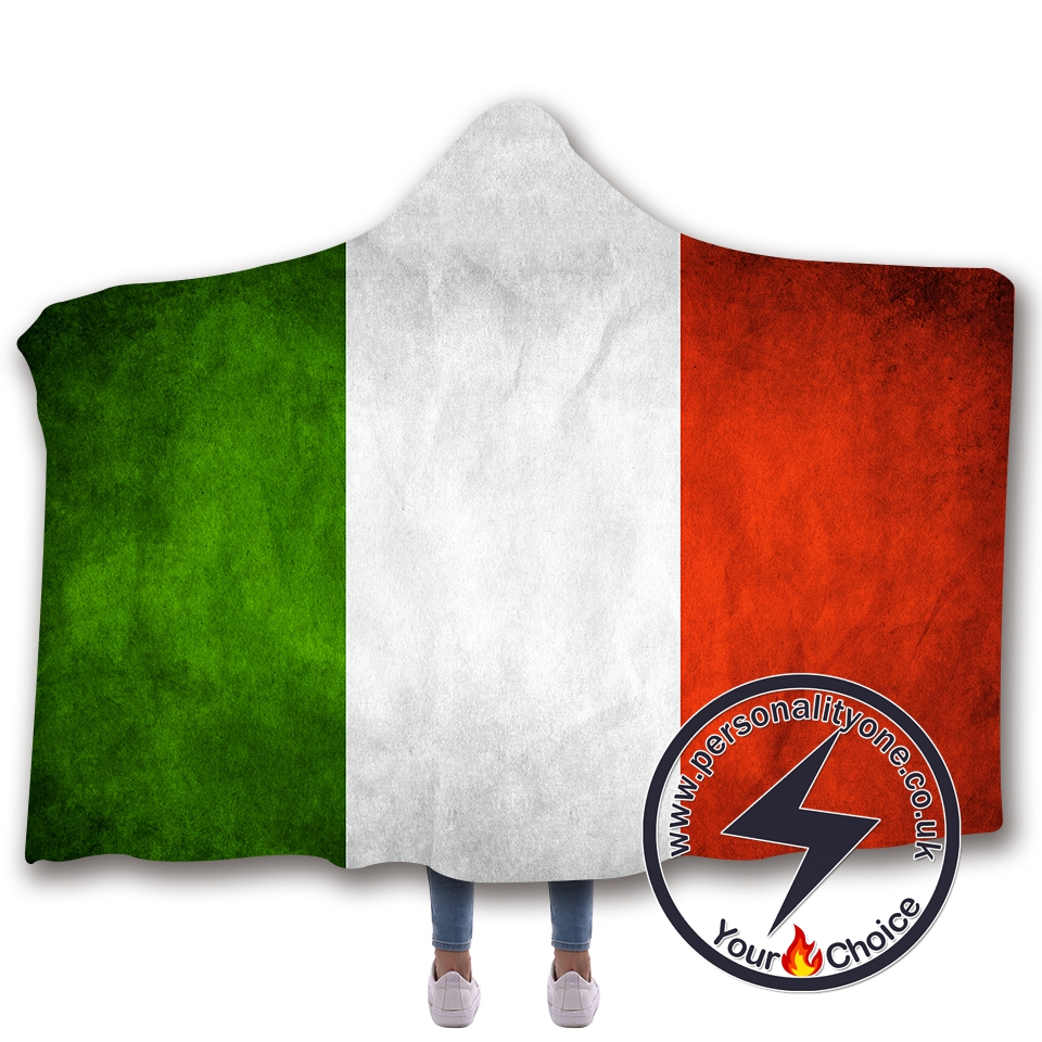 3D National flag Hooded Blanket #10002