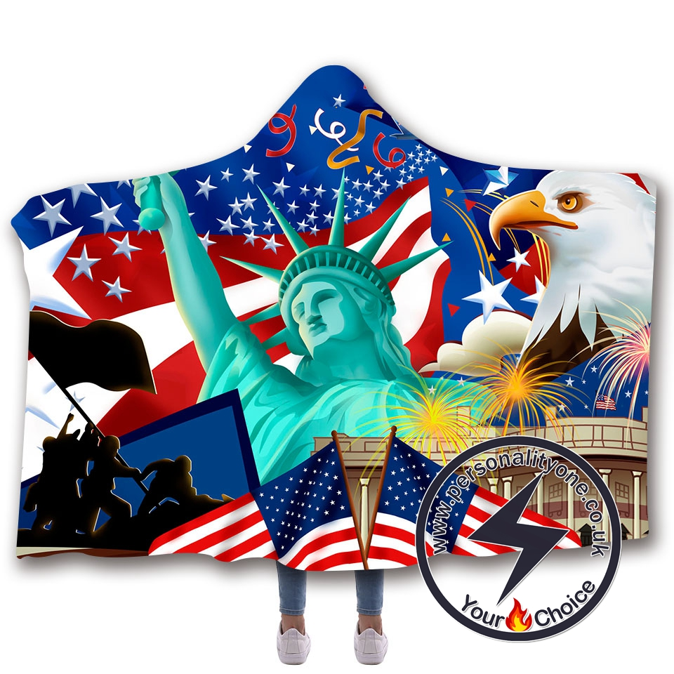 3D National flag Hooded Blanket #10004