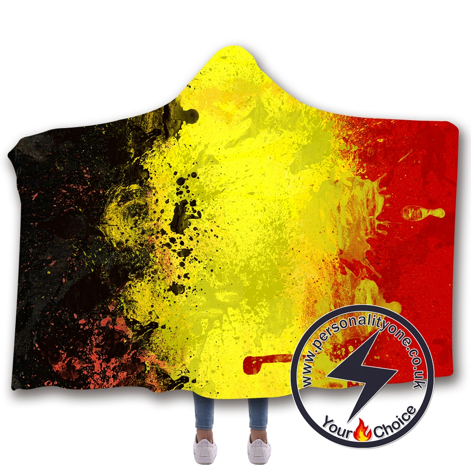 3D National flag Hooded Blanket #10005