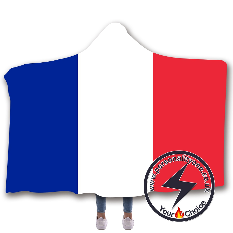 3D National flag Hooded Blanket #10011