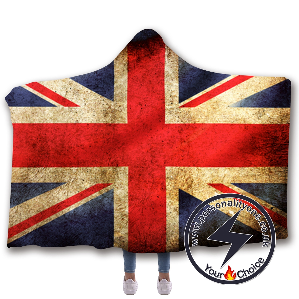 3D National flag Hooded Blanket #10013