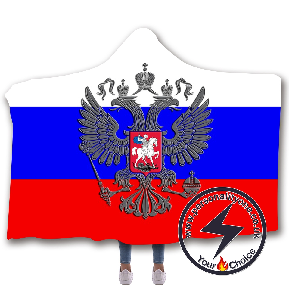 3D National flag Hooded Blanket #10017