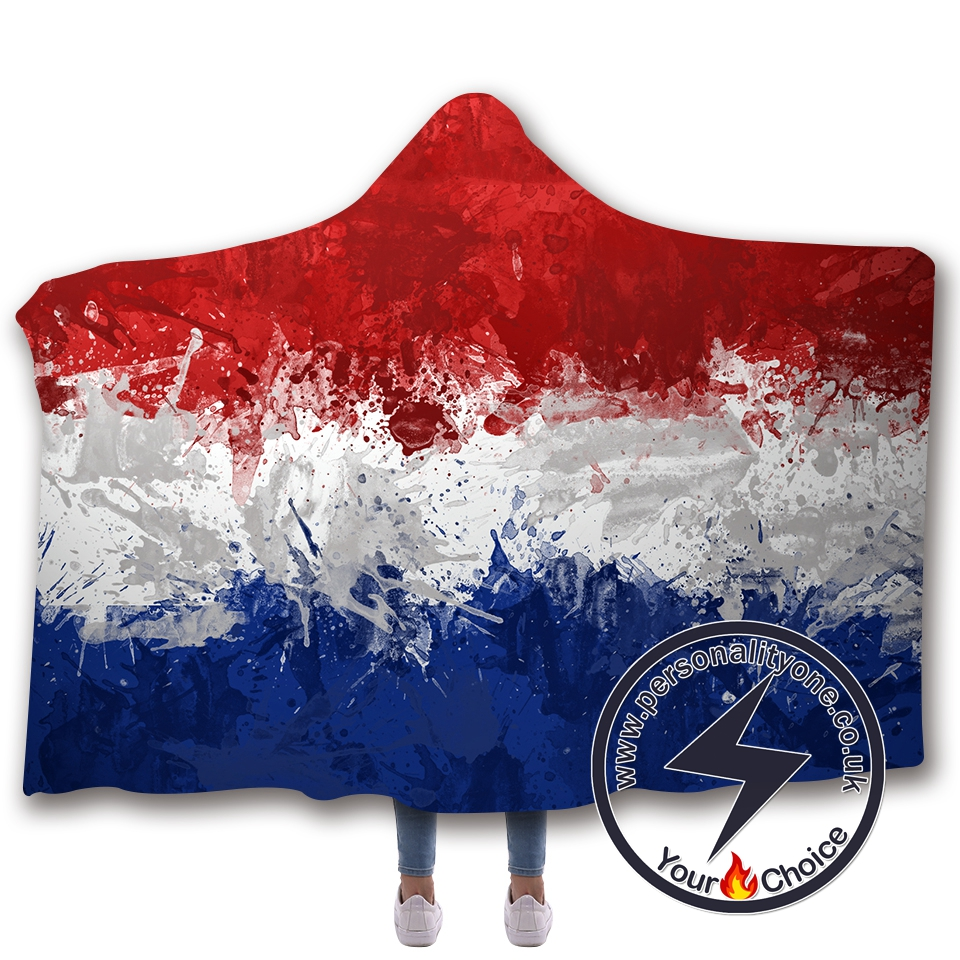 3D National flag Hooded Blanket #10020