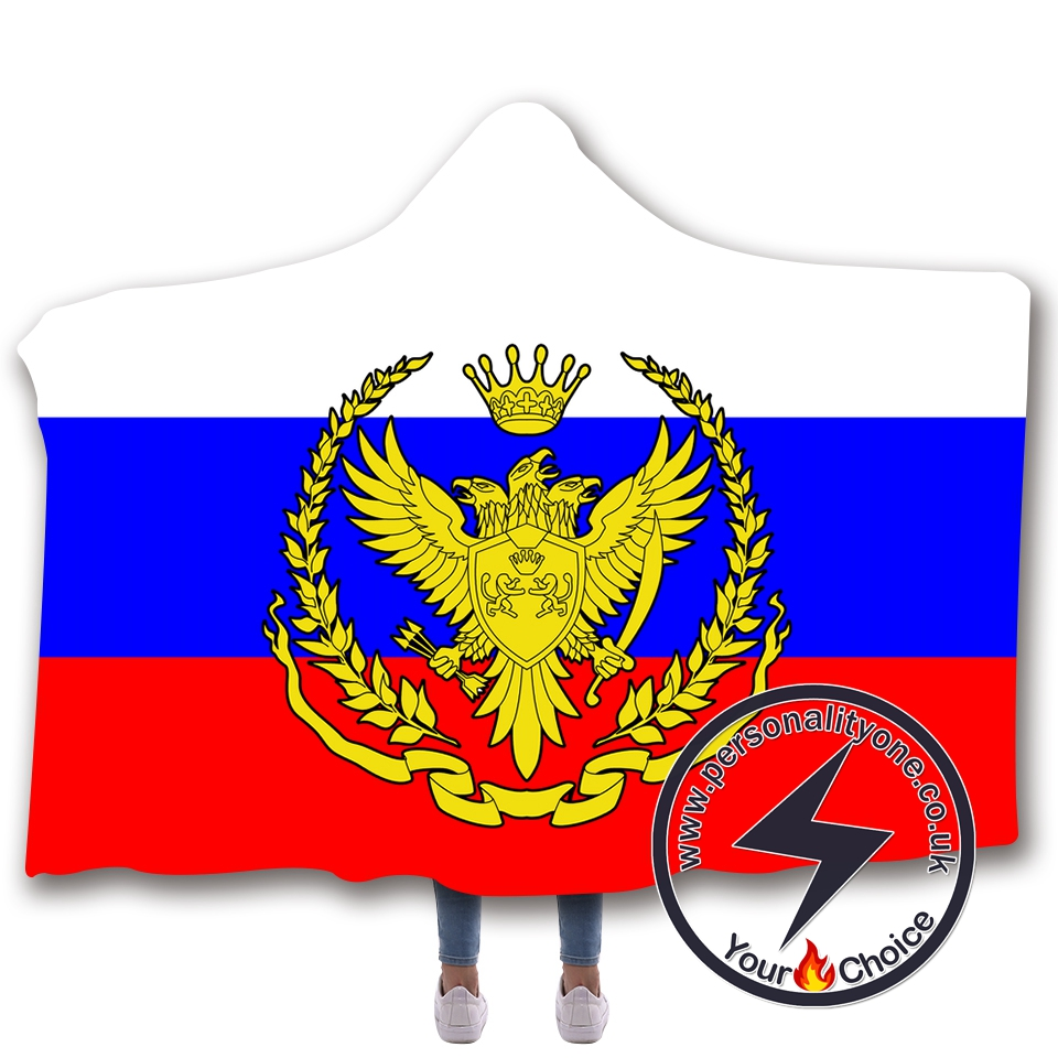 3D National flag Hooded Blanket #10021