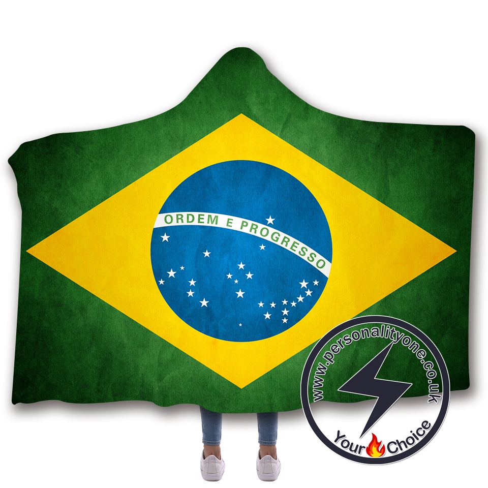 3D National flag Hooded Blanket #10023