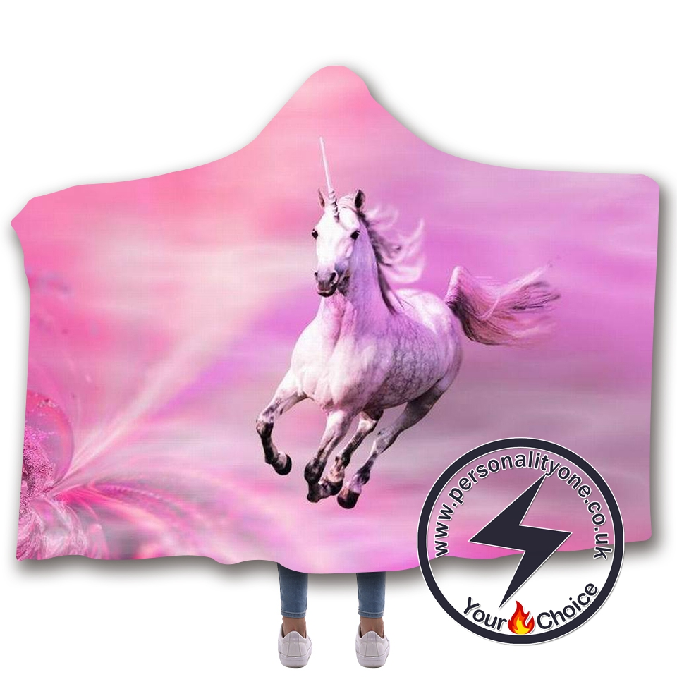 3D Unicorn Hooded Blanket #10001