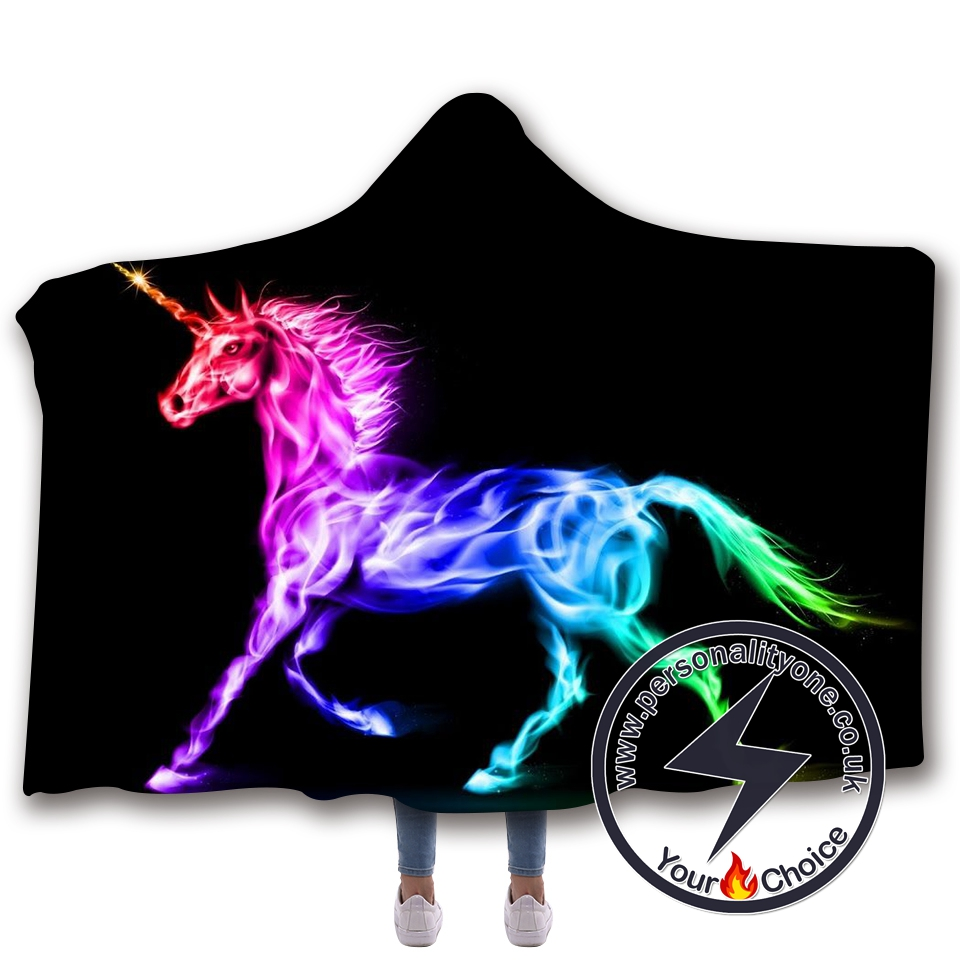 3D Unicorn Hooded Blanket #10002
