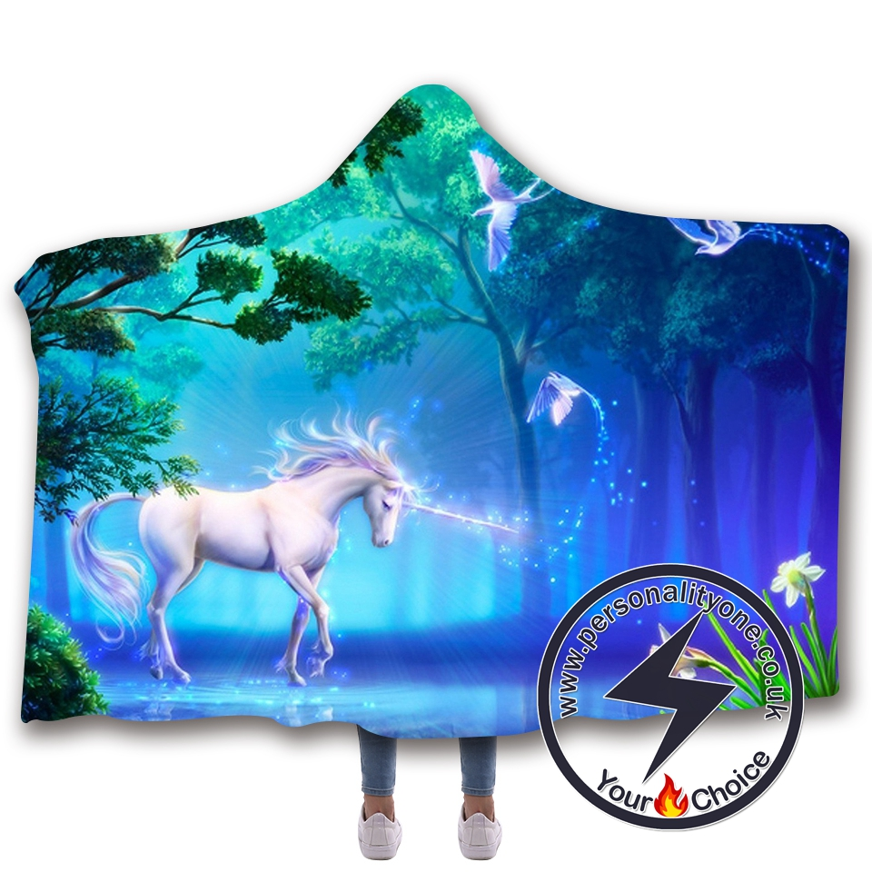 3D Unicorn Hooded Blanket #10003