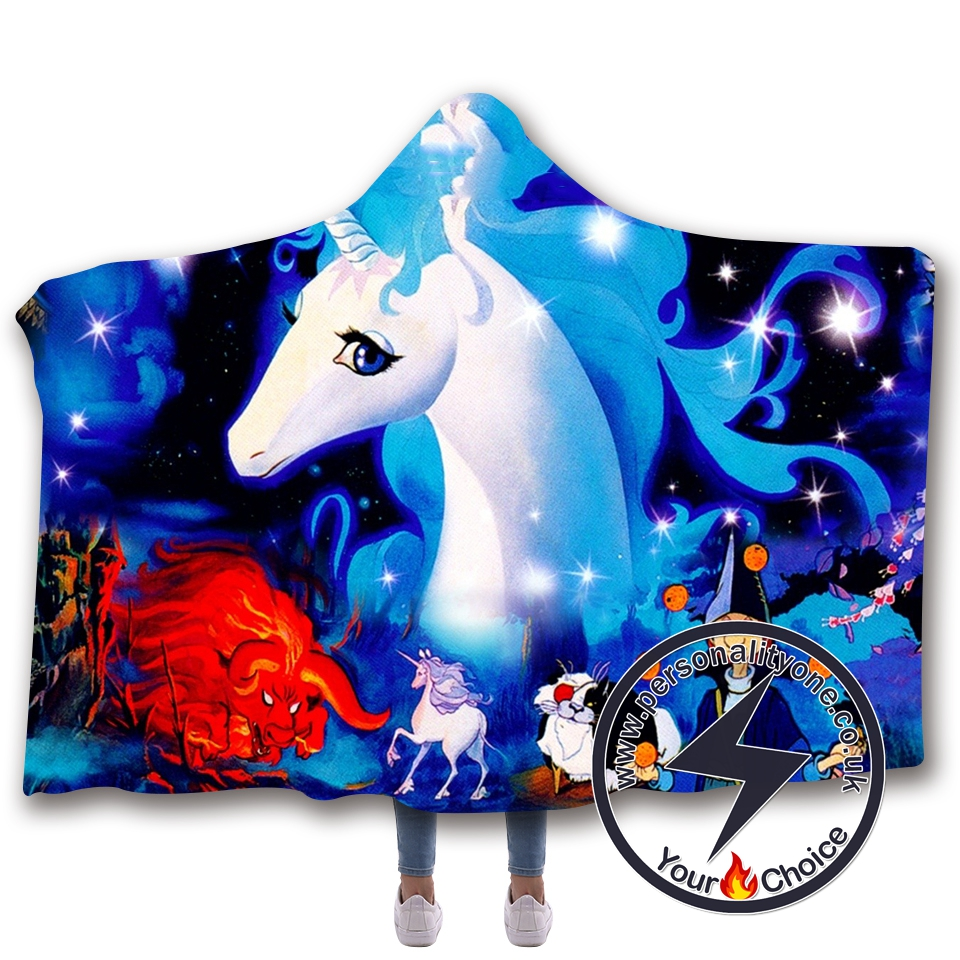 3D Unicorn Hooded Blanket #10008