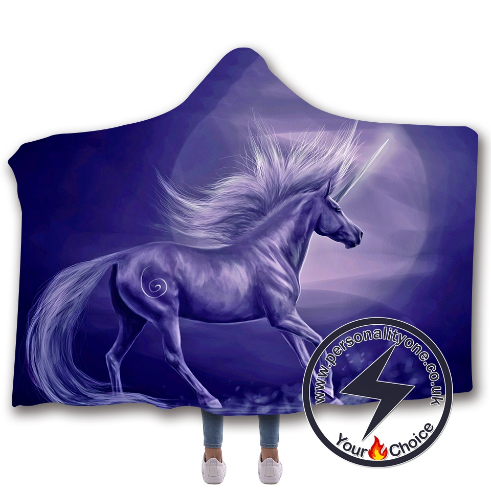 3D Unicorn Hooded Blanket #10012