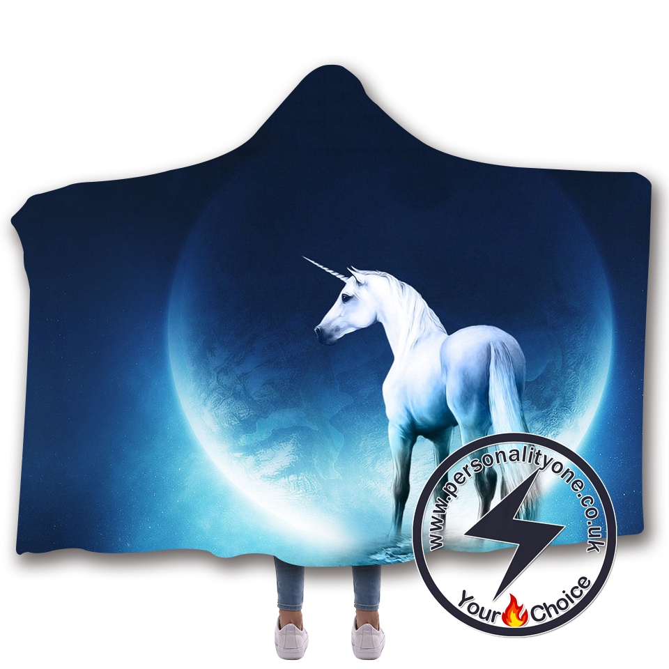 3D Unicorn Hooded Blanket #10014