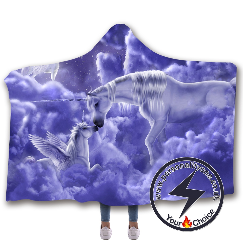 3D Unicorn Hooded Blanket #10015
