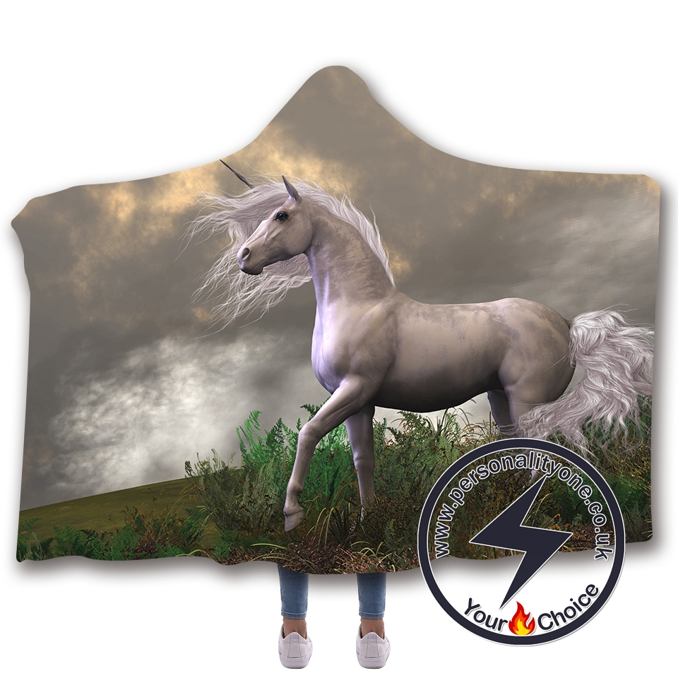 3D Unicorn Hooded Blanket #10016