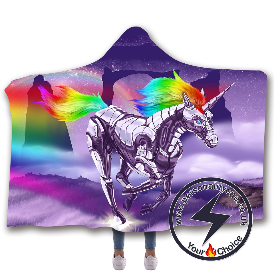 3D Unicorn Hooded Blanket #10017