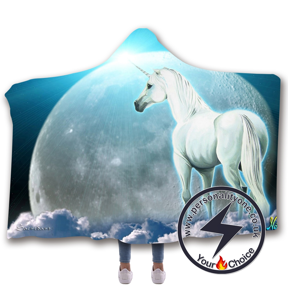 3D Unicorn Hooded Blanket #10018