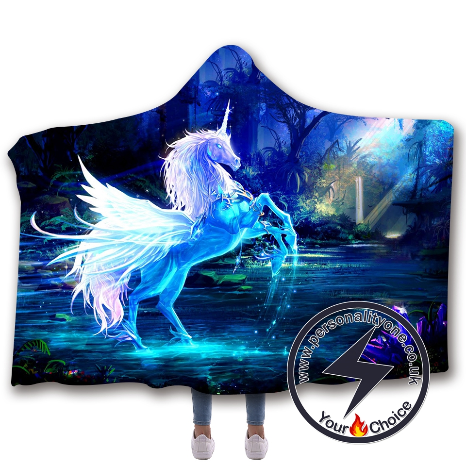 3D Unicorn Hooded Blanket #10019