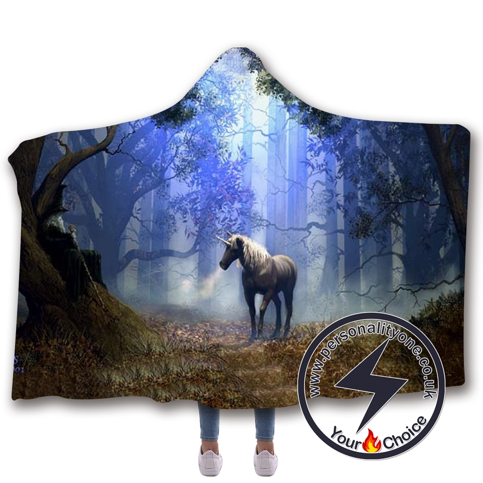 3D Unicorn Hooded Blanket #10020