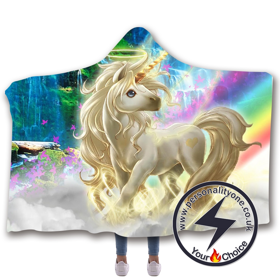 3D Unicorn Hooded Blanket #10021