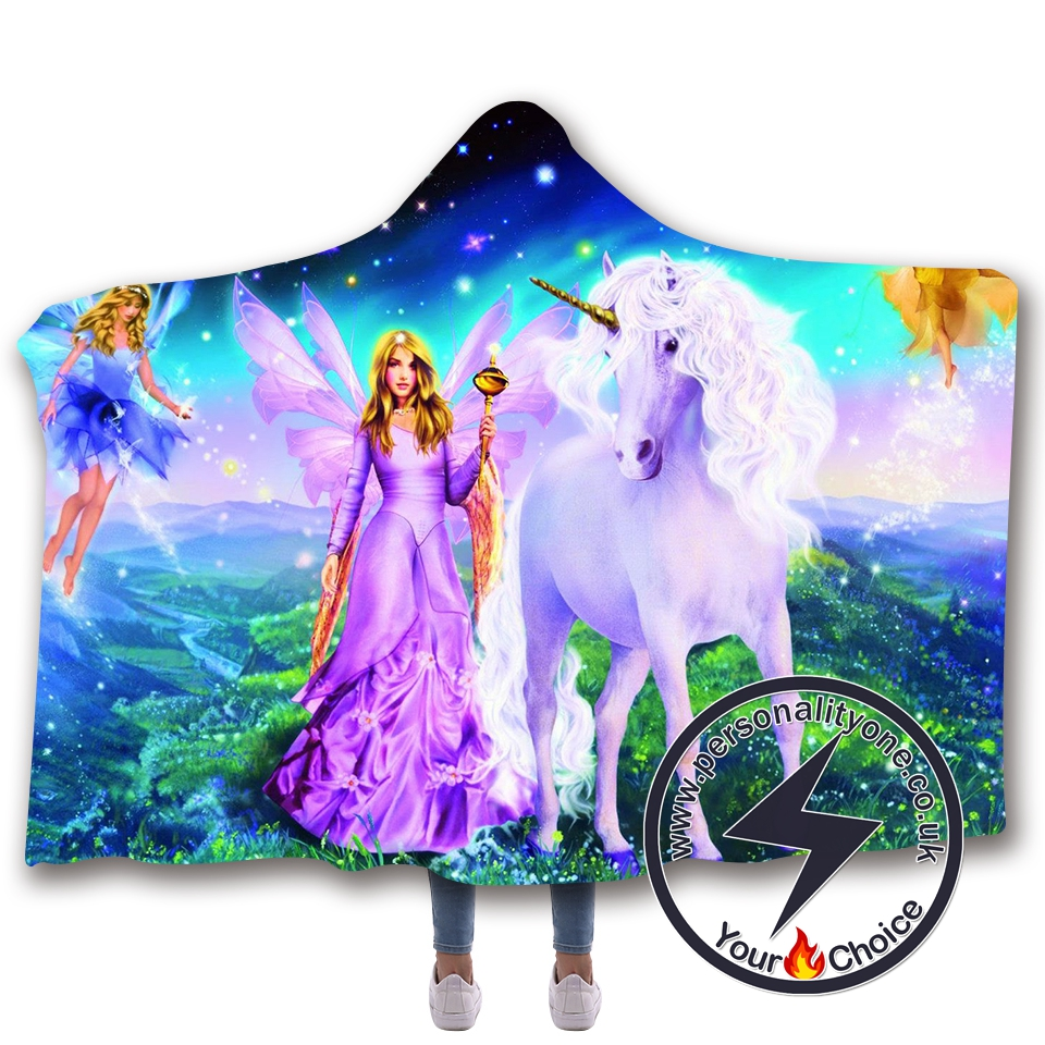 3D Unicorn Hooded Blanket #10022