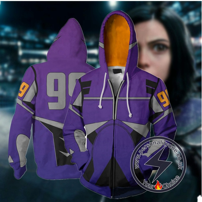 Alita:Battle Angel Alita Cosplay Zip Up Hoodie Jacket