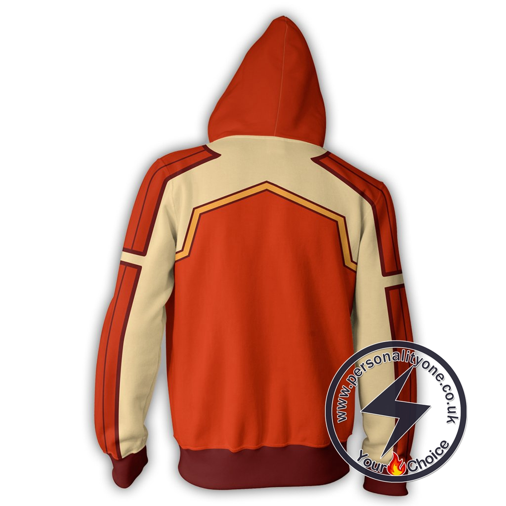 Avatar The Last Airbender Fire Ferret Zip Up Hoodie Jacket