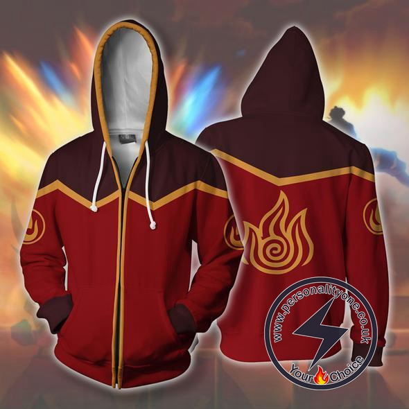 Avatar The Last Airbender Fire Nation Zip Up Hoodie Jacket