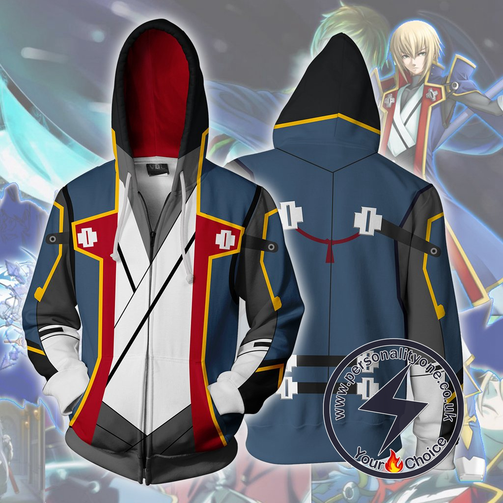 Blazblue Hoodies - Jin Kisaragi Zip Up Hoodie Jacket