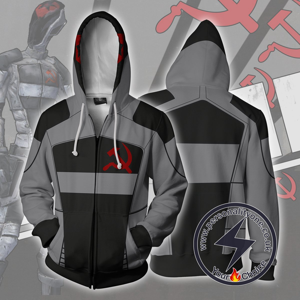 Borderlands Hoodie - Vladof Sickle Skin Jacket
