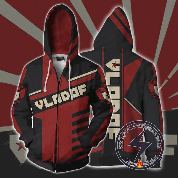 Borderlands Hoodies - Borderlands Vladof V2 Zip Up Hoodie Jacket