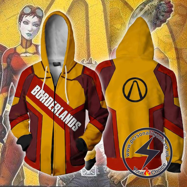 Borderlands Hoodies - Borderlands Zip Up Hoodie Jacket
